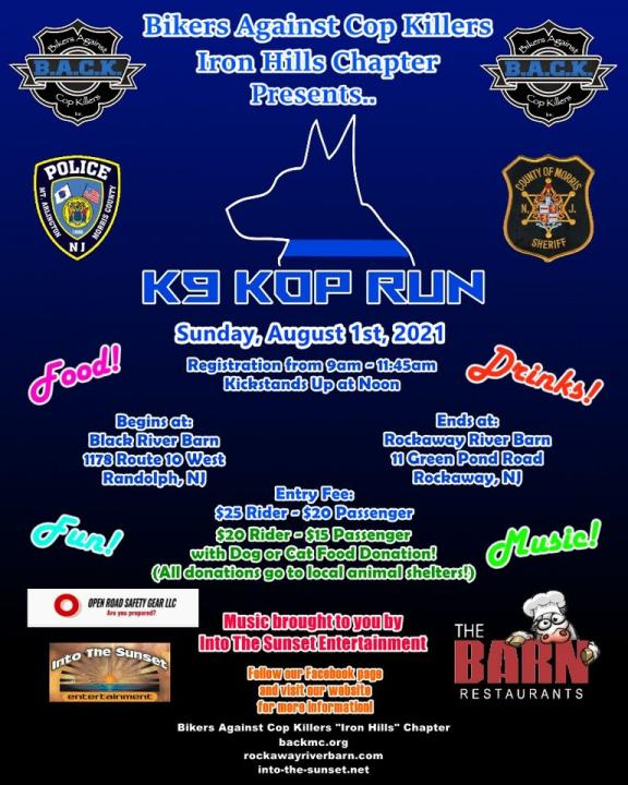 Bikers against Cop Killers - K9 Kop Run