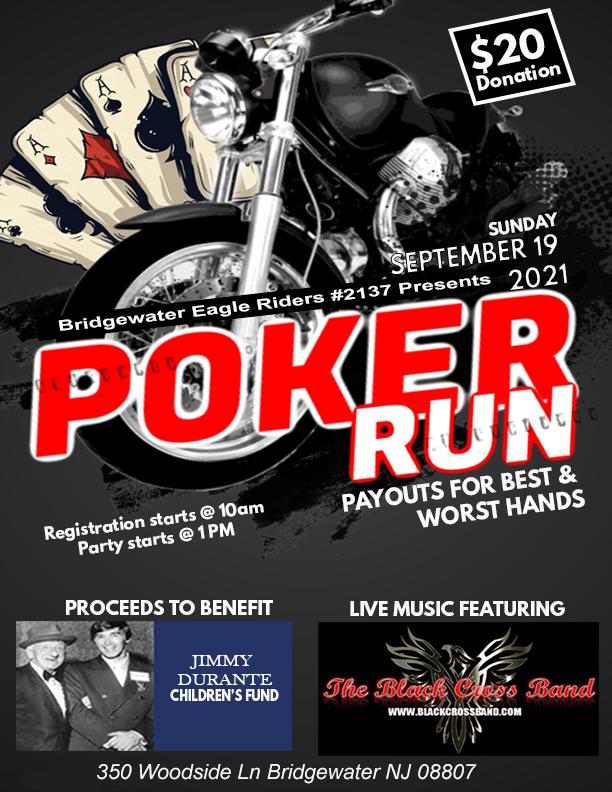 Eagle Riders Poker Run - Bridgewater Eagle Riders 2021 Poker Run