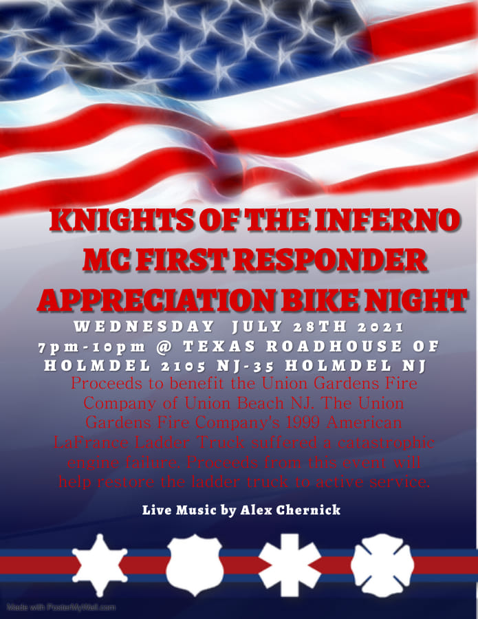 Knights of Inferno Bike Night TR - Knights of the Inferno First Responder Appreciation Bike Night