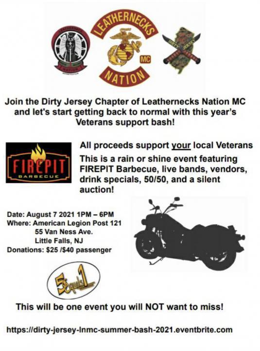 Leathernecks Veterans Bash - Leathernecks Nation MC Dirty Jersey Chapter Veterans' Bash