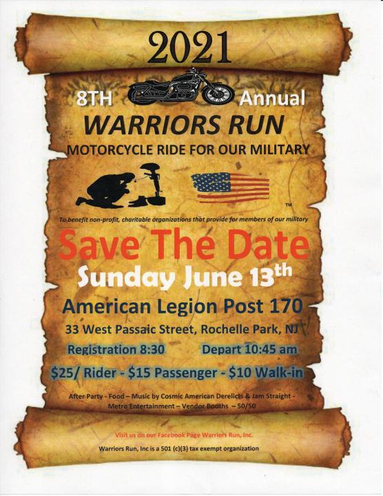 Warriors Run 6 13 21 - Garden State Harley-Davidson