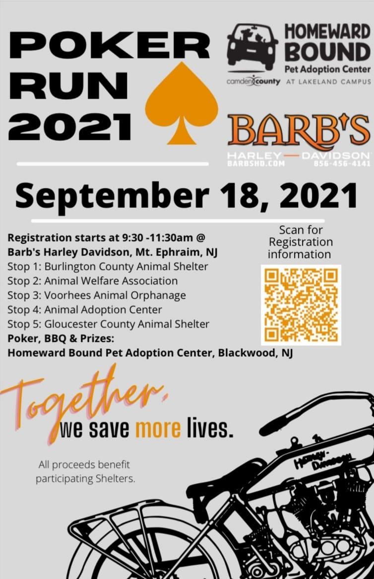barbs 9 18 - Homeward Bound Pet Adoption Center Poker Run 2021 for Homeless Pets